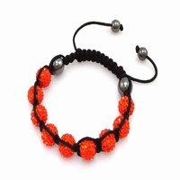 Fashion best selling newest styles Unisex Style Crystal plastic ball 10mm Shambhala Fashion Bracelet CC06