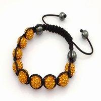 Fashion best selling newest styles Unisex Style Crystal plastic ball 10mm Shambhala Fashion Bracelet CC08