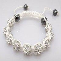 Fashion best selling newest styles Unisex Style Crystal plastic ball 10mm Shambhala Fashion Bracelet CC10