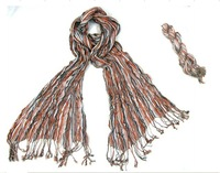 2012 New Fashion women scarf,Crease style scarves,girl scarf, scarf Free shipping 2Pcs/lot