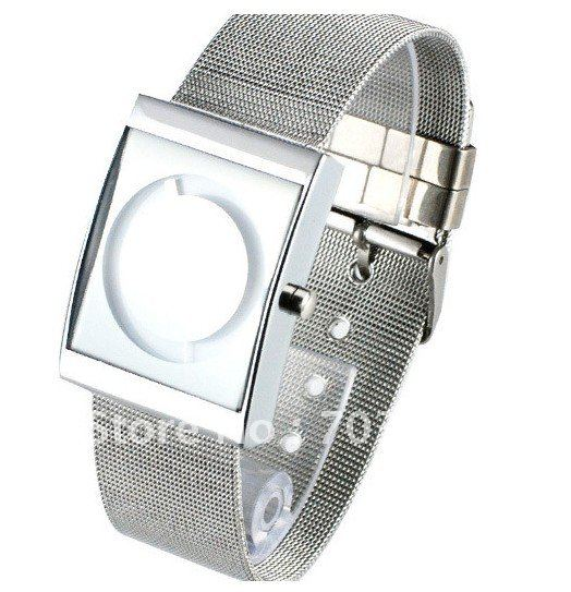 Men with square steel watch South Korea fashionable tide han edition fashion watch male character wrist watch list(China (Mainland))
