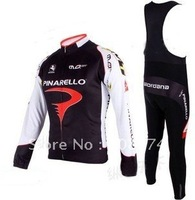 Fast Shipping 2010 Pinarello Best Selling Winter Fleece/Thermal Cycling Jersey+Bib Pant Set/Cycle Wear/Bikling Clothing/Bike