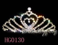 Fast Free Shipping! Gorgeous Alloy With Austria Rhinestones Wedding Bridal Tiara/ Combs/ Headpiece -HG0130
