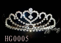 Fast Free Shipping! Gorgeous Alloy With Austria Rhinestones Wedding Bridal Tiara/ Combs/ Headpiece -HG0005