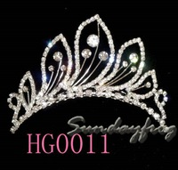 Fast Free Shipping! Gorgeous Alloy With Austria Rhinestones Wedding Bridal Tiara/ Combs/ Headpiece -HG0011