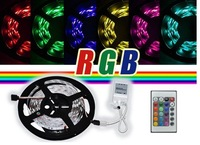 LED Light Strip RGB 5m SMD 5050x300 Waterproof Led Lighting 24keys IR Remote+LED Controller Free Shipping