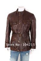 free shipping ! fashion men's motorcycle jacket ,genuine leather jacket for men fashion jacket big size