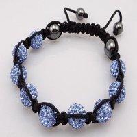 Fashion best selling newest styles Unisex Style Crystal plastic ball 10mm Shambhala Fashion Bracelet CC14
