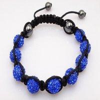 Fashion best selling newest styles Unisex Style Crystal plastic ball 10mm Shambhala Fashion Bracelet CC21