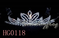 Fast Free Shipping! Gorgeous Alloy With Austria Rhinestones Wedding Bridal Tiara/ Combs/ Headpiece -HG0118