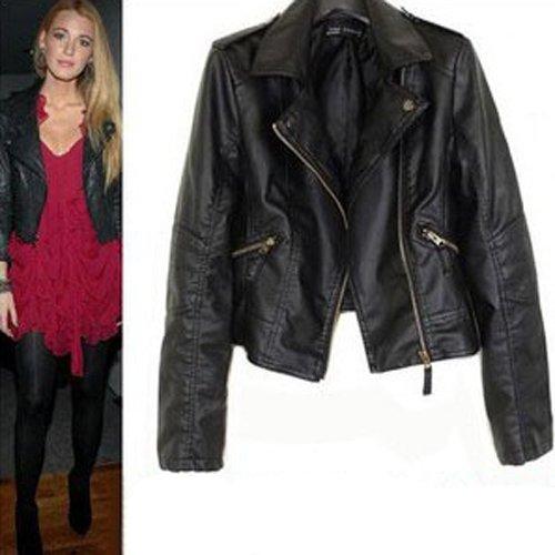 Leather Black Jacket Women