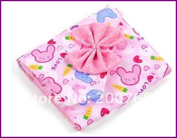 Free shipping by EMS 100% Cotton Printed Sanitary Napkin/Health cotton bags for Lady with bowknot mix color 250pcs/lot(China (Mainland))
