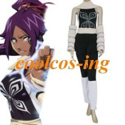 Bleach Yoruichi Shihouin Cosplay Costume(China (Mainland))