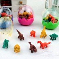 Fashion simulation dinosaur egg eraser set,children gift,lovely  stationery free shipping