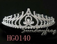 Fast Free Shipping! Gorgeous Alloy With Austria Rhinestones Wedding Bridal Tiara/ Combs/ Headpiece -HG0140