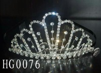 Fast Free Shipping! Gorgeous Alloy With Austria Rhinestones Wedding Bridal Tiara/ Combs/ Headpiece -HG0076