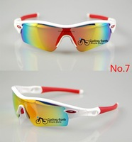 New Sports Eyewear Sunglasses 5'' Lens Men's Cycling Bicycle Bike Sunglasses 7 colors