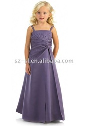 beaded 2012 flower girl dress girls pageant dresses prom dresses for 11 year olds david ribbon africanvoile lace betsy johnson97(China (Mainland))