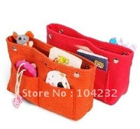 Free Shipping New arrival women felt cosmetic bag organizer , handbag organizer, purse organizer (100 pcs)