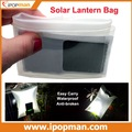 Solar Lantern Bag with 0.5W solar panel &1500mah battery, can illuminate 7-8 hours, waterproof & easy carry