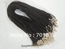 Black Velvet Ropes Necklace Cords Free Shipping, 2mm Chenille Necklace Strap Fit Charm Necklace DIY, Necklace Accessories(China (Mainland))