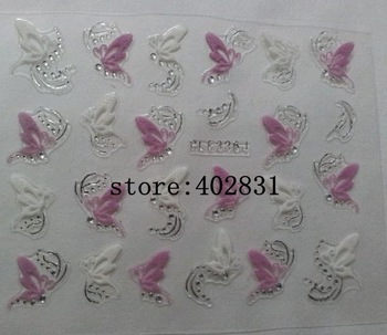 Wholesale 3D Nail Sticker different designs assorted . 100pack/lot  FREESHIPPING