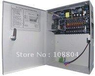 9ch Power distribution box for CCTV, 100-240V AC Power input, 12V DC power output,free shipping