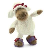 NICI Lovely White Sheep Red Kerchief Medium Cotton Plash Doll Toy Gift 25 cm