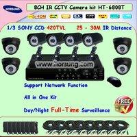 8CH home video surveillance systems HT-6808T 1/3 420tvl Sony CCD Camera