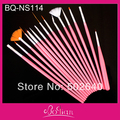 Free Shipping Wholesale 15 pcs/lot  Nail art drawing Painting brush ,striping liner brush Pink handle