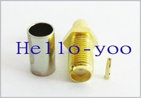 SMA Jack female straight crimp for LMR195 connector Free shipping