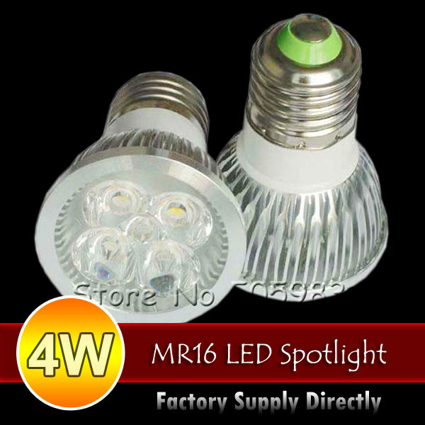 10PCS 4W 4X1W High Power E27 AC85V-265V Warm Pure Cold White LED Spot Down Light, GU10 MR16 Options, Fedex Shipping Dropshipping(China (Mainland))