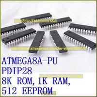ATmega8A AVR ATmega8A-PU 8-bit MCU,Original, PDIP28,8K ROM,1K RAM,512 EEPROM