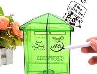 3pcs/lot DIY graffiti mailbox saving bank / piggy bank free shipping
