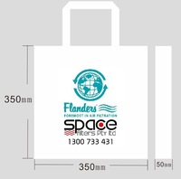 Sample Fee / 35*35*5cm /Logo printing bag/ woven bag with handle /80gsm fabric