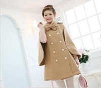 free shipping, style coat,winter outwear,fashion coat,women coat,ladyCape  coat