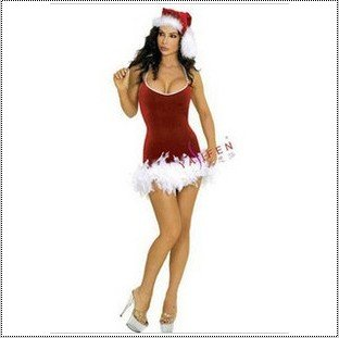 Christmas party clothes, DS sexy performance clothing, lady Santa costume, stage, singer uniform, special price,free shipping