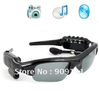 Hot Sale! Fashionable DV88 4 In 1 Camera+video+MP3+Bluetooth Black Sunglass 1.3mage Recording Speed 30fps Sunglass