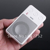 Micro SD TF MP3 FM Pocket Music Player, Portable Speaker, 10 piece/lot