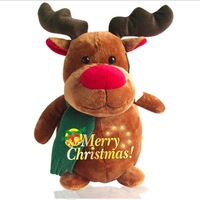 "14""Christmas Deer plush toys,stuffy toys,soft and lovely,Christmas new year gift"