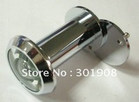 Dia16mm x 200 Degree Brass Door Viewer / Peephole with Cover and Glass Lens  for 35-55mm Door