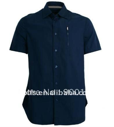 men's new style black slim fit casual shirt(China (Mainland))