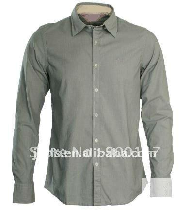 men's trendy solid color dress shirt(China (Mainland))