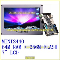 "free shipping,ARM9 S3C2440 Mini2440+7"" 800*480 touch screen,64M RAM + 256M Nand Flash"