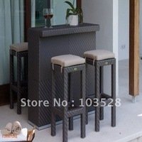 2012 new model outdoor wicker furniture/bar table and bar stool PF-5059