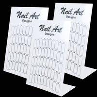 100 pcs/lot  Nail Art False Nail Salon Exhibition Stand Board Demo Display tool Essentials    #1252