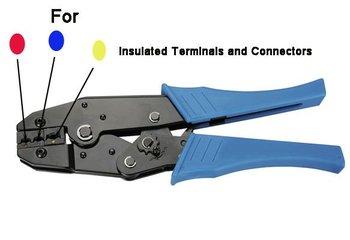 Ratchet Crimping Tool / Pliers Crimps Insulated Terminals 0.5-6 sq mm