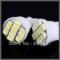 [Free Shipping] 100pcs/lot New white T10 8 SMD super bright Automobile led High power auto led bulb Led car lights