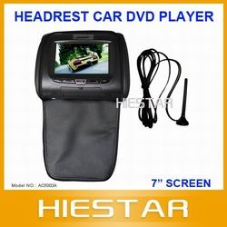 "Car DVD Player +7"" Headrest with pillow Supporting DVB/ISDB Digital TV(Hong Kong)"