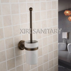 bathroom toilet brush holders with antique brass finishing free shipping 711(China (Mainland))